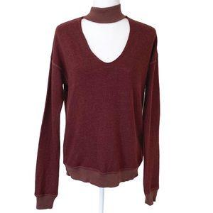 n:Philanthropy Bae Sweatshirt Front Neck Cutout S
